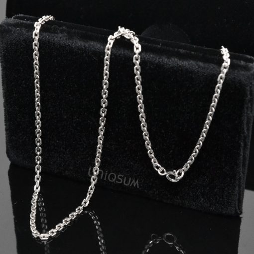 Sterling Silver chains 925C_SVOC Oval cable chain 925 sterling silver chain Necklace