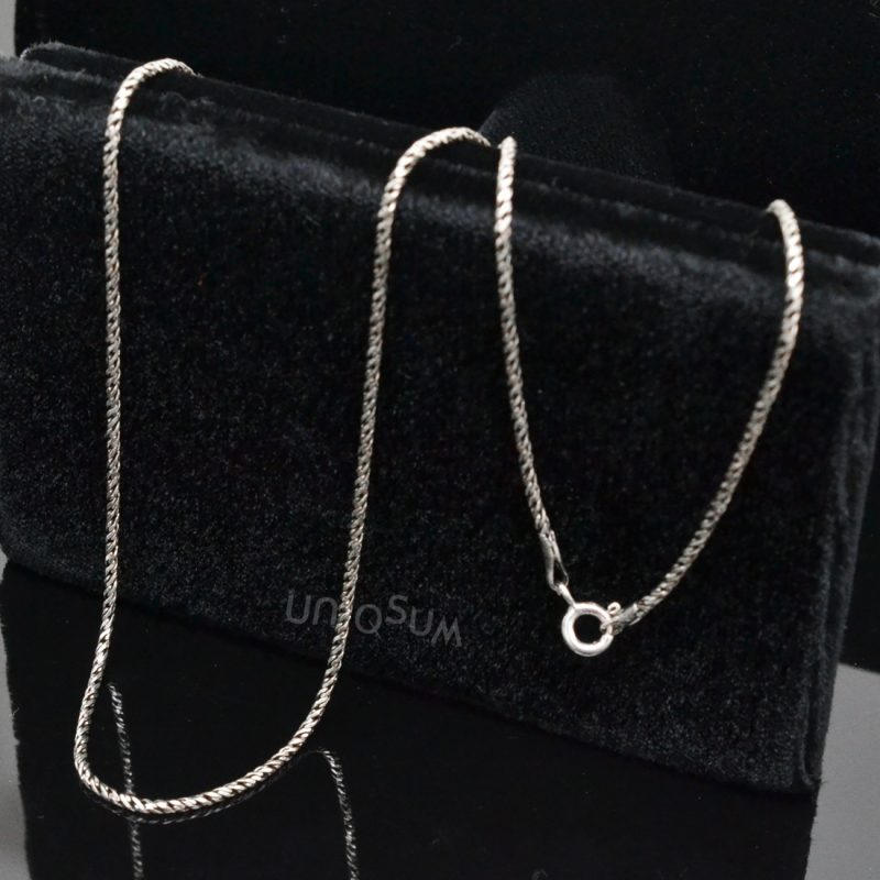 Sterling Silver chains 925C_SVRO Rope shape 925 sterling silver chain Necklace