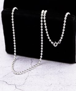 silver chain 3mm ball 925 silver chain